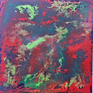 Red and Green Abstract by Darryl Green
