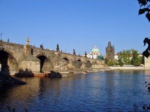 View of The Charles Bridge Prague by Darryl Green