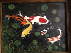 Koi Fish Painting by Darryl Green