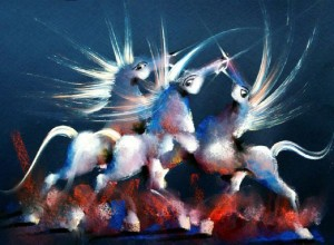 White Angel Horses by David Berkowitz Chicago