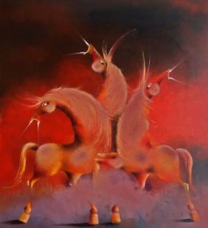 Three Horses by David Berkowitz Chicago
