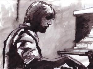 ink painting by Delaram dehrouyeh
