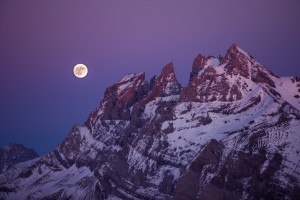 Purple full moon by Dom Granger Photography
