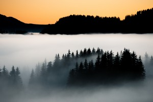 Island in the clouds - horizontal by Dom Granger Photography