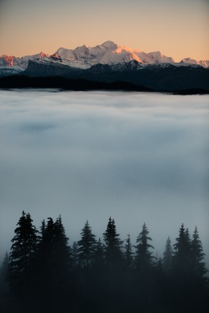 Mont Blanc and its sea of clouds by Dom Granger Photography