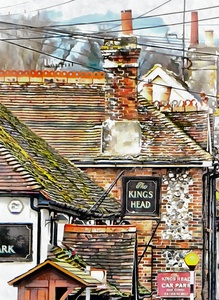 The Kings Head Pub Upper Beeding by Dorothy Berry-Lound