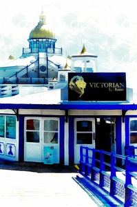 Victorian Tea Room Eastbourne Pier by Dorothy Berry-Lound
