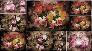 Vintage Floral Imaginings Collage by Dorothy Berry-Lound