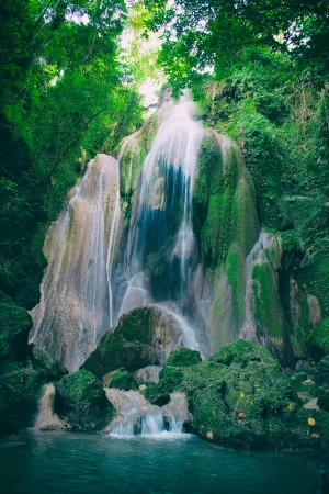waterfall in the jungle by DroneVue360