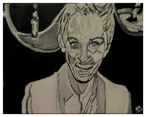 "Ellen Degeneres GG - 11"" x 14"" Canvas Painting  by GG Bailey Artwork 48"