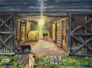 After Hours in Pas Barn LS by Jan Kornegay Dappen