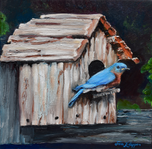 BlueBird on Lake Odom by Jan Kornegay Dappen