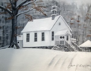 Snowy Gates Chapel by Jan Kornegay Dappen
