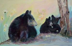 Bears Frolicking in Spring by Jan Kornegay Dappen