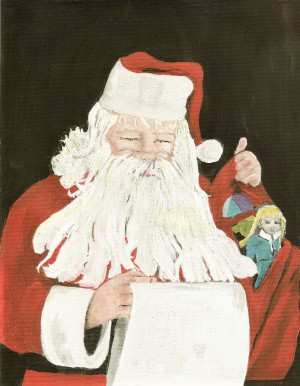 Santa making his list by Jan Kornegay Dappen