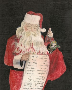 Santa Checking His List by Jan Kornegay Dappen