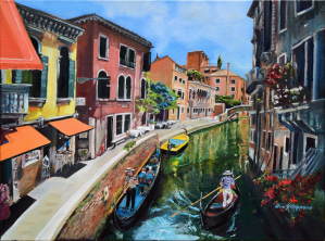 Venice in Summer Vivid by Jan Kornegay Dappen