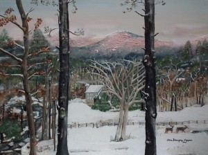 Pink Knob Mountain - Ellijay, GA- Snow by Jan Kornegay Dappen