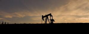 PumpJack Oil Rig Silhouette by Jane Dobbs