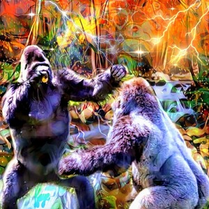 The rumble in the jungle by Kaye Baby