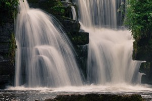 Waterfalls in Penllergare woods by Leighton Collins