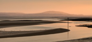 Loughor estuary at dusk by Leighton Collins