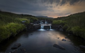 Dusk over the Brecon Beacons by Leighton Collins
