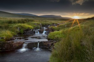 River Tawe sunset by Leighton Collins