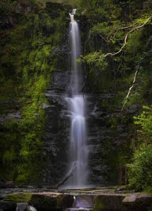 The tallest waterfall at Blaen y Glyn  by Leighton Collins