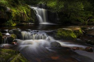 The waterfalls at Blaen y Glyn  by Leighton Collins