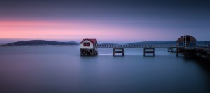 Mumbles pier and lifeboat station in Swansea by Leighton Collins