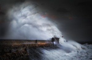 Hurricane Ophelia at Porthcawl by Leighton Collins