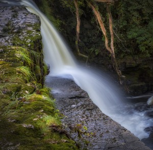 Sgwd Clun Gwyn waterfall South Wales by Leighton Collins