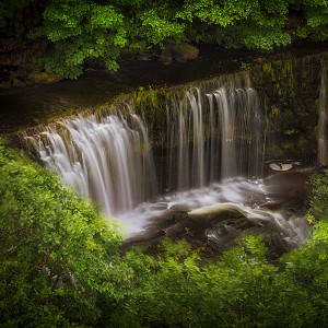The Sgwd Isaf Clun-gwyn waterfall by Leighton Collins