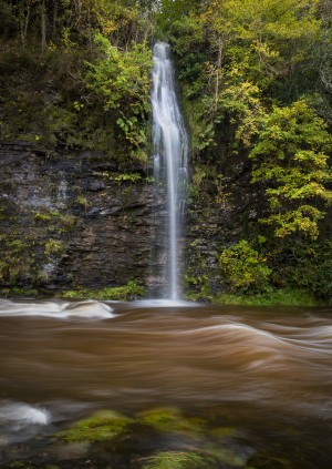 A waterfall on the river Tawe by Leighton Collins
