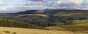 Brecon Beacons mountains panorama by Leighton Collins