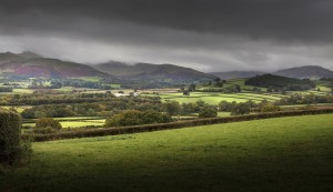Dark clouds over the Brecon Beacons by Leighton Collins