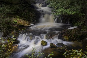 A small waterfall in Rhayader by Leighton Collins