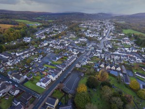 Rainclouds over Ystradgynlais by Leighton Collins