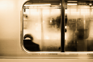 Urban Loneliness - Metro by Markus Hermannsdorfer