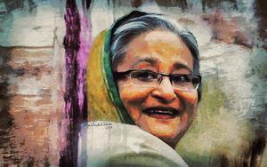 Sheikh Hasina   Beacon of Hope  by Artist Saidul Islam by Md Saidul Islam