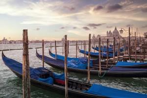 VENICE Gondolas & Santa Maria della Salute  by Melanie Viola