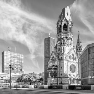BERLIN Kaiser Wilhelm Memorial Church | Monochrome by Melanie Viola