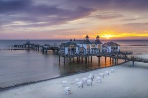 BALTIC SEA Sellin Pier during sunrise by Melanie Viola