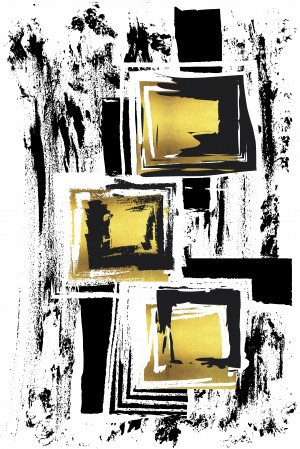 Abstract Painting No. 36 | gold  by Melanie Viola