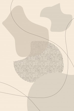 Mid-Century Modern No. 2 | brown   by Melanie Viola