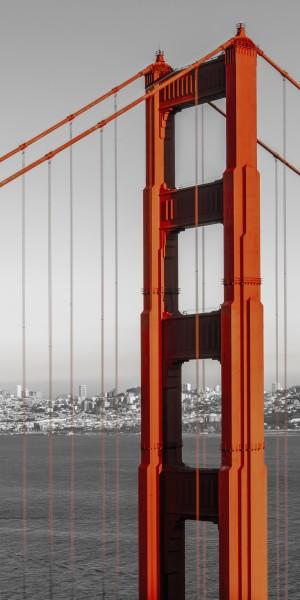 SAN FRANCISCO Golden Gate Bridge | Panorama   by Melanie Viola