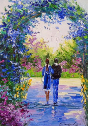 Romantic walk in the garden by Olha Darchuk