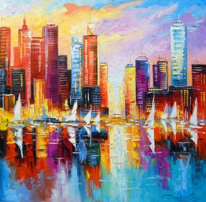 Evening new York  by Olha Darchuk