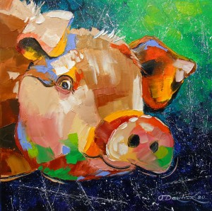 Funny pig  by Olha Darchuk